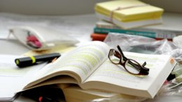 open books and glasses